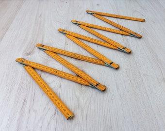 Vintage meter Folding meter Carpenter tool Vintage tool Measuring tool Wooden ruler Folding ruler Vintage metre Old metre Wooden tool Gift