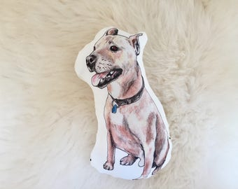 Pit bull baby rattle | pitbull, dog pillow, baby shower gift, pit bull gift, custom pet pillow