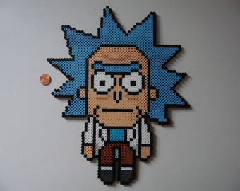 Rick and Morty Perler Bead Wall Art