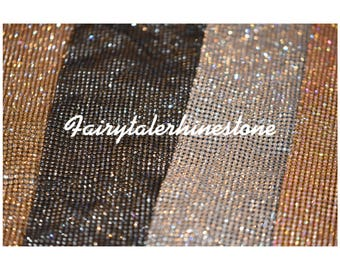 Rhinestone sheets / rhinestone fabric , perfect for dress making