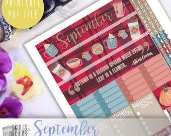 50% OFF! ERIN CONDREN September Monthly View Kit – Printable Planner Stickers