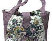 Gift for her, Purple handbag, Vegan bag, Fall bags, Designer handbags, Fabric handbag, Large tote, Handbags, Large handbag, Eco-friendly