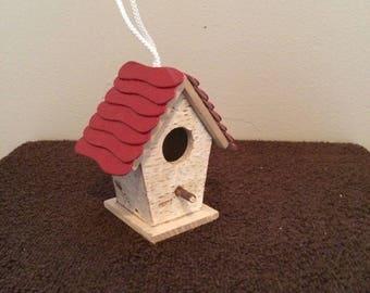 Shingle Roof Birch  Birdhouse