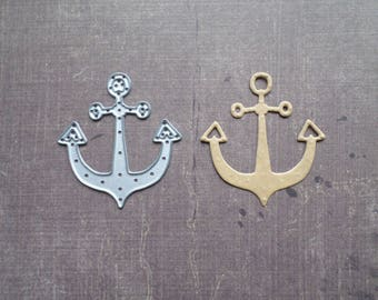 Die cut matrix Sizzix travel sailor anchor