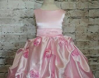 couture shantung silk flower girl dress,ball gown flower girl dress,girls special occasion dress,pageant dress,vestido de quinceanera,