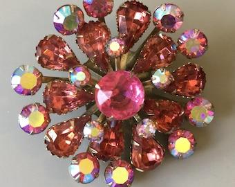 Vintage Pink Flower Pin/Brooch