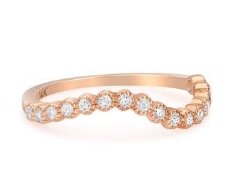 14K Wavy Shape Ring