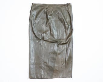 GUCCI - Longuette leather skirt