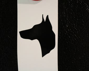 Doberman Dog Decal Any Size Any Colors