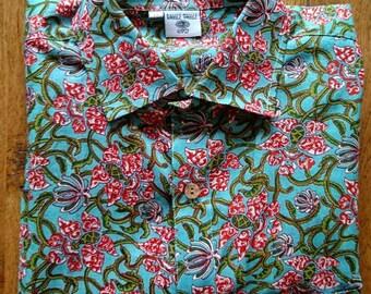 SALE, Mens short sleeved retro sailor shirt, mens, shirt, retro, vintage style, gifts for him