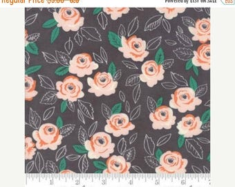 Sale Floral Wildest Rose in Gray Charcoal from the Sugar Pie Collection by Lella Boutique for Moda
