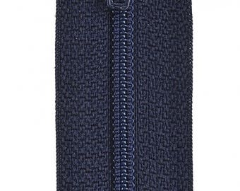 """Navy 14"""" All Purpose Polyester Coil Zipper from Coats and Clark, Navy Blue"""