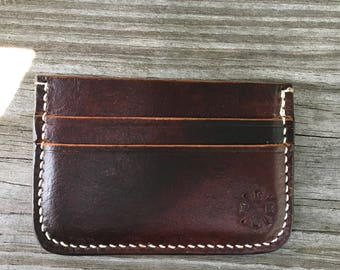 Leather Card Wallet - 4 cards plus interior pocket