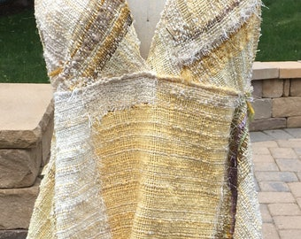 Saori handwoven pullover summer top