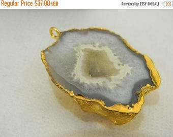 on sale 80% Discount Druzy Pendants With Electroplated Gold Edge Charms Wholesale Price Handmade Size 30MM Approx