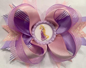 Rapunzel Stacked Boutique Hair Bow