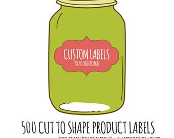 Custom Cut Product Labels- 500 Die Cut Vinyl Stickers Cut to Any Shape
