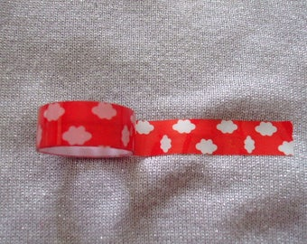 Masking Tape / tape adhesive paper / white cloud on a red background