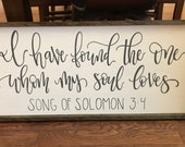 I have found the one, Song of Solomon, wall decor, wood sign
