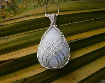 Moonstone Wire wrapped pendant