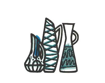 Three vases (riso print)