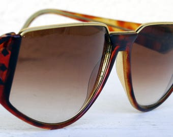 Sover sunglasses cat eye brown gold shades decorated retro frames vintage 90s Italian design made in Italy