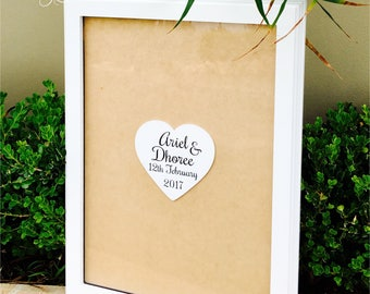 Wedding Guest Book | Alternative Wedding Guest Book | Drop Box | Alternative Rustic Guest Book | Wedding Gift - Deluxe Rectangle Guest Book