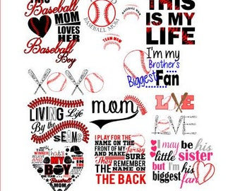 Baseball SVG bundle / love baseball bundle / baseball dxf / eps/ pdf / baseball cut files / Bundle and SAVE / baseball mom / baseball fan