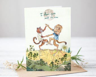I love you all the time [Greetings Card]