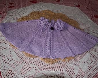 light purple shoulders 38/40 hand made crochet women