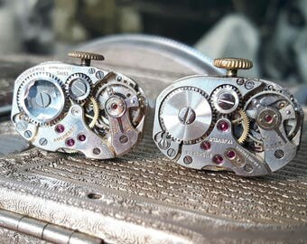 BUCHERER Vintage Watch Movement Cufflinks