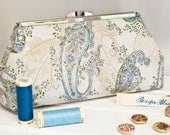 Clutch Bag - Purse - Hand Bag - Evening Bag - Toiletry Bag - Handmade bag featuring gorgeous paisley fabric with metallic accents
