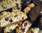 Biscotti, Italian Cookies, 1 1/2 Dozen, Homemade Cookies, Cookies, Vanilla Biscotti, Chocolate Biscotti, Cranberry Biscotti, Almond Biscotti