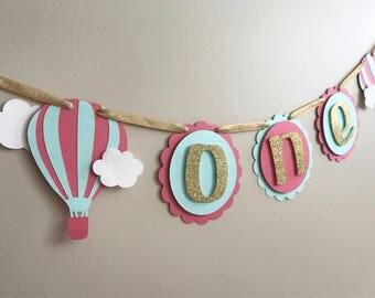 Hot Air Balloon Banner, Hot Air Balloon Party, Hot Air Balloon Decorations, Up Up and Away