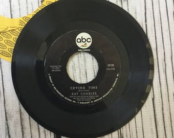 Vintage Ray Charles Crying a Time When my dreamboat comes in 45 Record