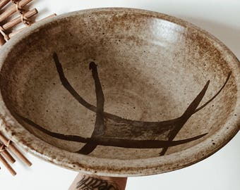 Large Pottery Salad Bowl