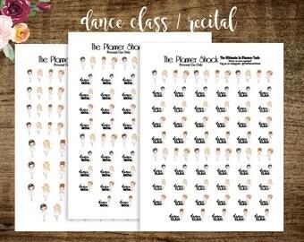 Printable Dance Planner Stickers | Dance | Dance Class | Ballet | Dance Recital | Printable Planner Stickers | Planner Printables