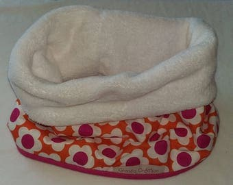 Snood or neck kids cotton lined with fleece