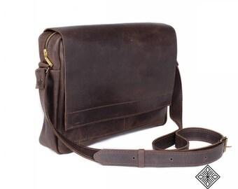 Leather Handbag Messenger bag 02, Genuine leather, Man bag, Big leather bag, Soft leather bag, Brown bags, Handmade bag, Leather tote