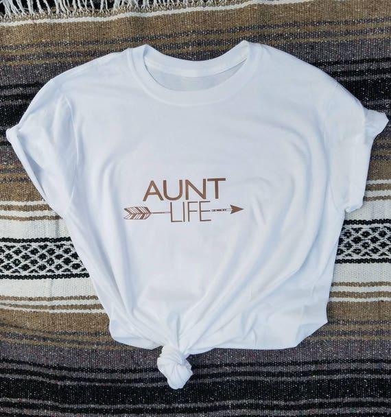 AUNT LIFE Rose Gold Ink, Aunt Life Tshirt, Aunt Tshirt, Aunt Shirt, Best Aunt Ever
