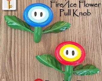 Flower Pull Knob Nintendo Geek Home Decor Super Mario Bros Gamer Home Decor Cabinets Closets Dressers Drawers