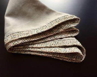 Handkerchief, 26 x 26, silk cotton