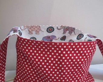 Elephant and red spot handbag