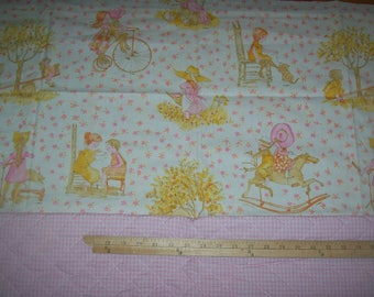 HOLLY HOBBIE Weighted Blanket Quilt Throw Baby Toddler Gift Pink Gingham