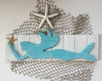Shabby Chic Mermaid Coastal Decor