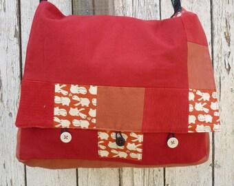 Navy red or blue reversible storage bag