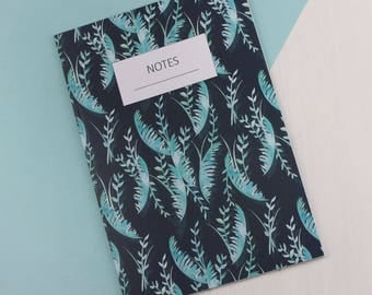 Dark Tropical A5 Lined Notebook