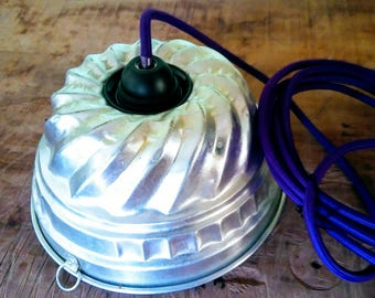 Suspended lamp 3 LINE, chandeliers upcycled, creative décor