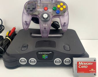 Nintendo 64 Console Bundle Tested Works Cleaned Expansion Pak