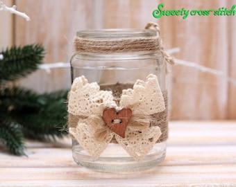 Christmas candle holder, Christmas vase, Kitchen decor, Christmas table decoration, Christmas table setting,  original gift.